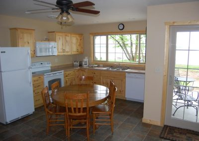 Two Bedroom Cabin Kitchen Canary Beach Resort MN