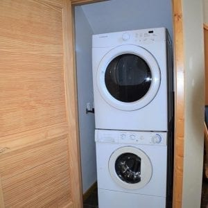 Five Bedroom Cabin Washer and Dryer