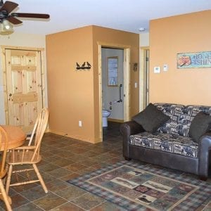 Two Bedroom Cabin Family Room Canary Beach Resort MN
