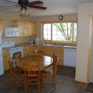 Two Bedroom Cabin Kitchen Canary Beach Resort MN 1