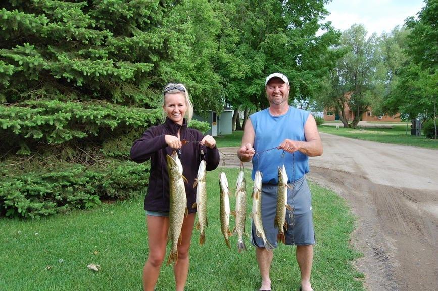Fishing on Lake Villard Minnesota